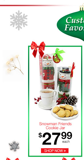 Snowman Friends Cookie Jar