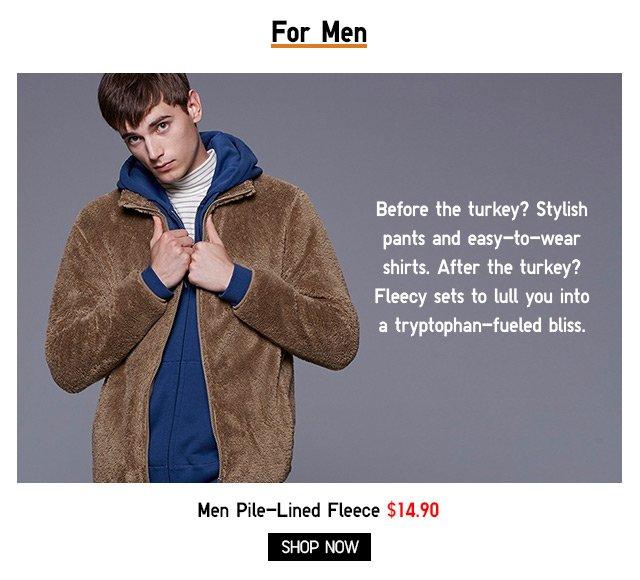 Men - Pile-Lined Fleece - Shop Now