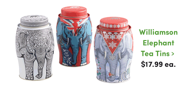 Williamson Elephent Tea Tins ›