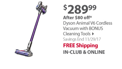 Dyson Animal V6 Cordless Vacuum with Bonus Cleaning Tools