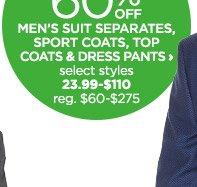 mens suit separates