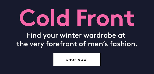 Unexpectedly cool menswear for cold weather.