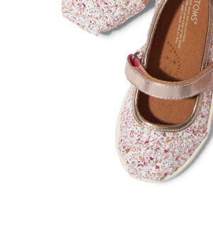 Candy Cane Glitter Party Tiny TOMS Mary Janes
