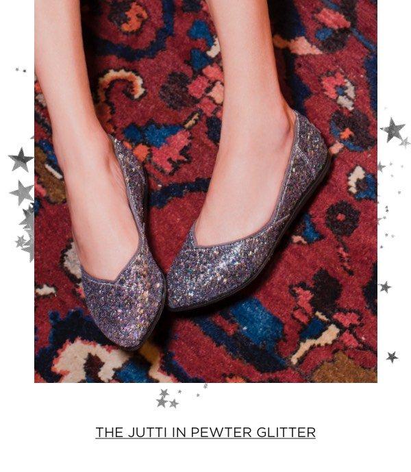 The Jutti In Pewter Glitter
