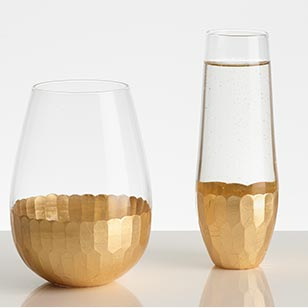 Gold Stemless Glassware Collection ›