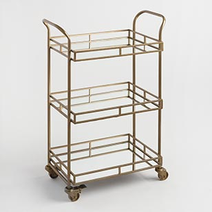 Cole 3-Tier Rolling Bar Cart ›