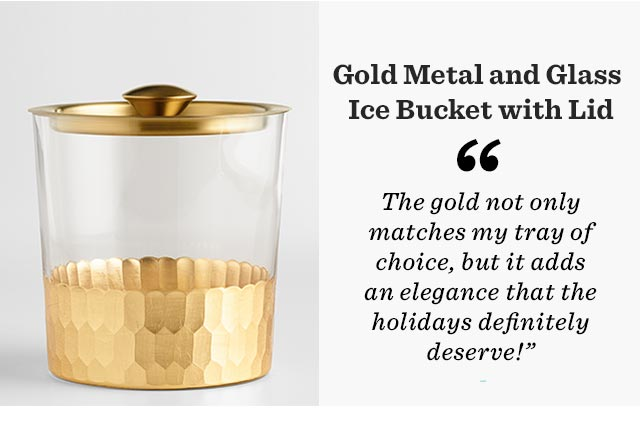 Gold Metal And Glass Ice Bucket With Lid ›