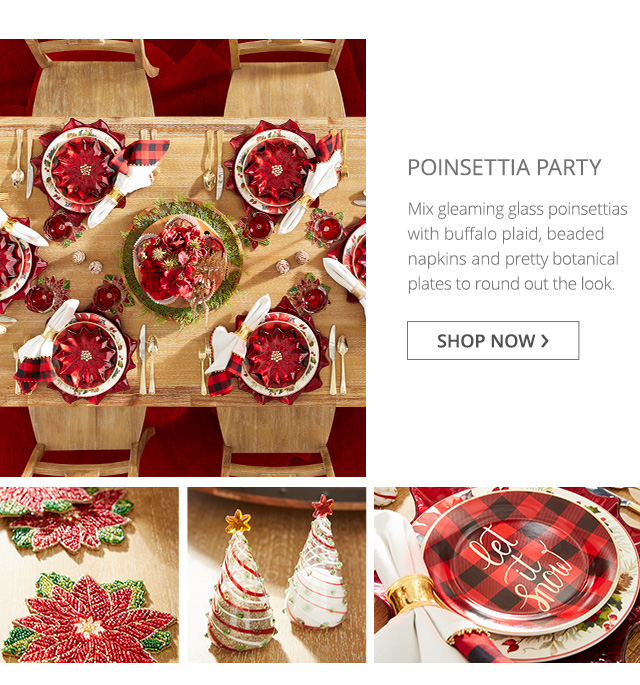 Poinsettia Party. Shop now.