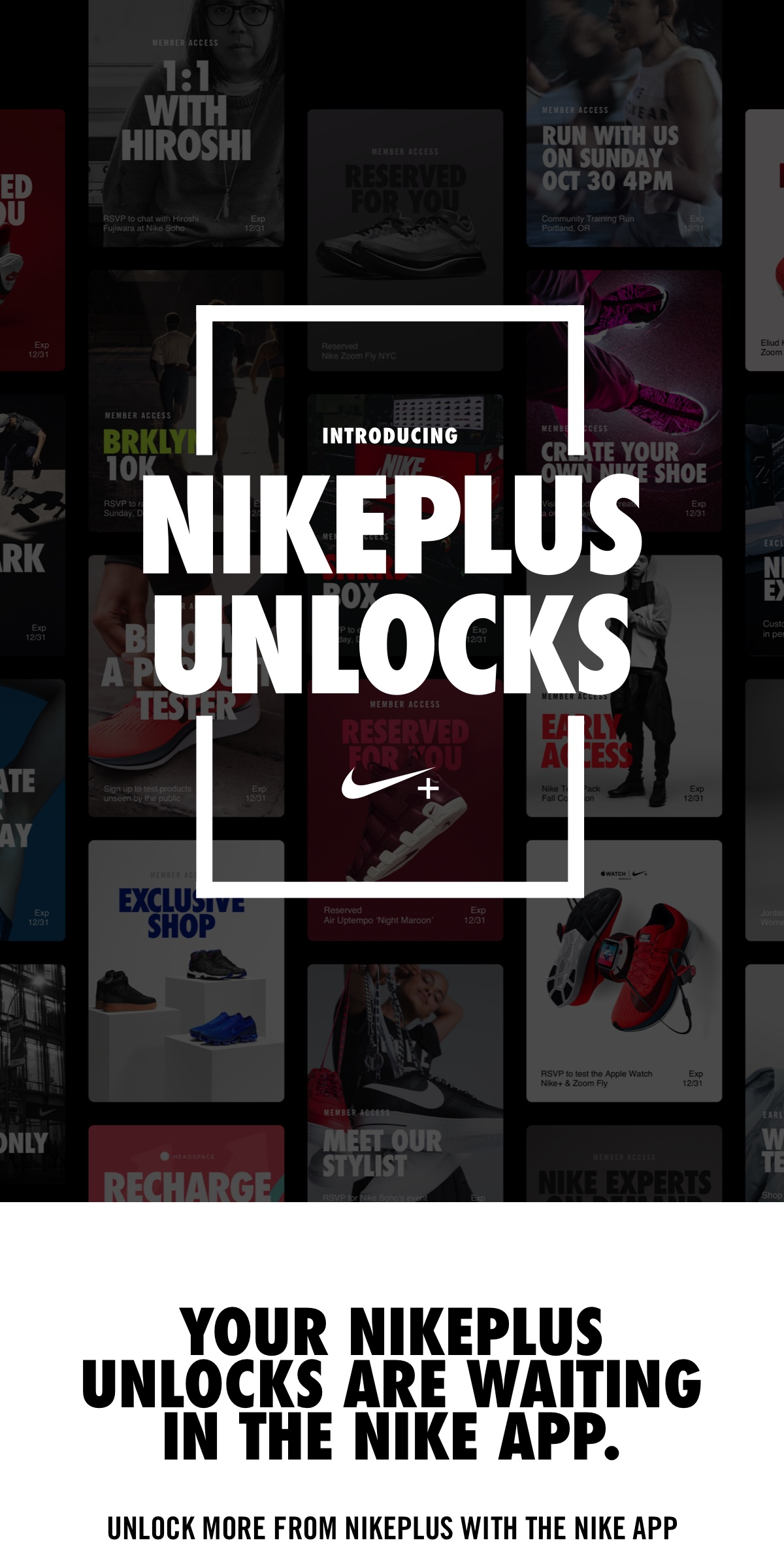 chaussures de sport ccb22 28fff Nike: Introducing NikePlus Unlocks 🔑 | Milled