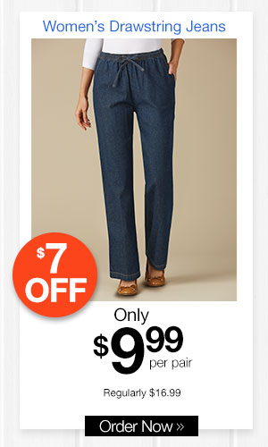 Women's Drawstring Jeans