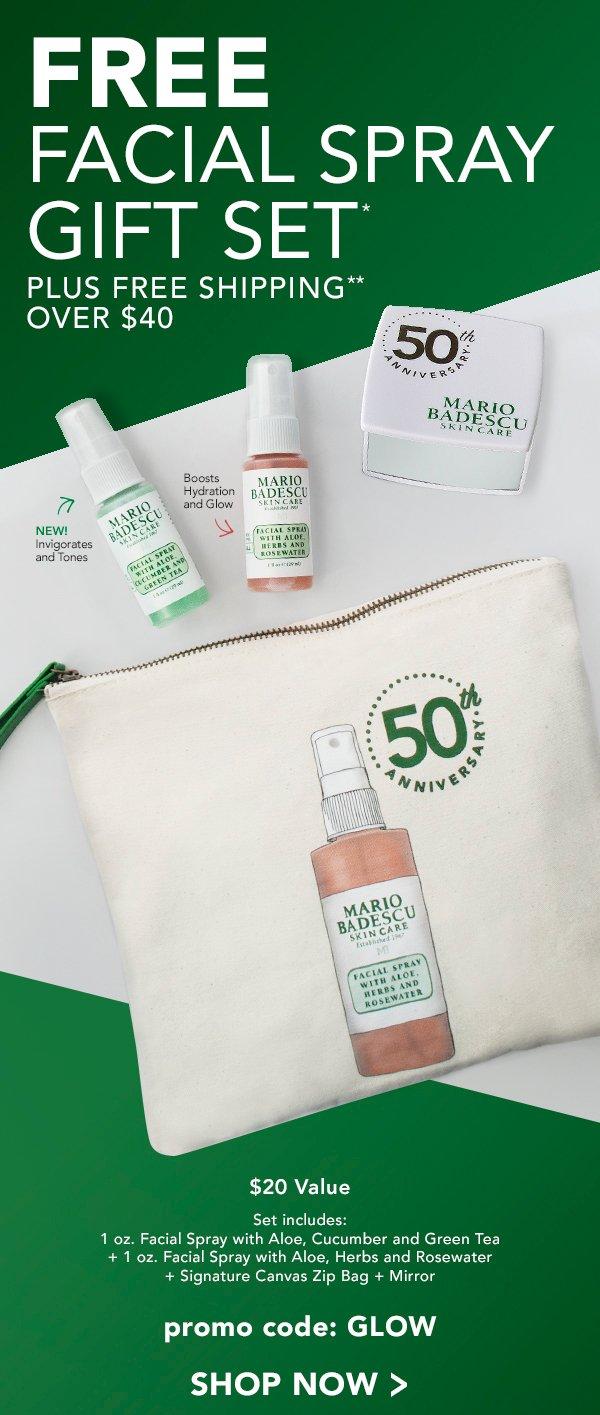 Mario Badescu Skin Care Glow All Day Free Facial Spray