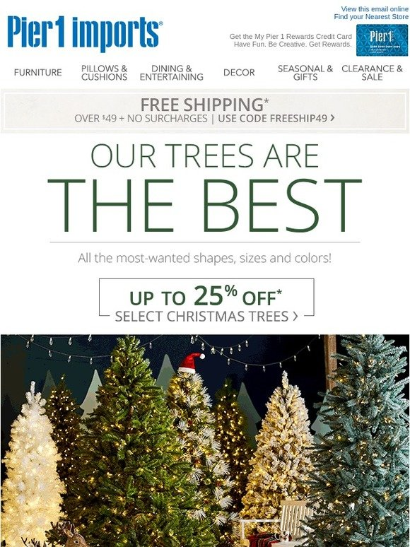 Pier One Christmas Trees.Pier 1 O Christmas Tree Milled