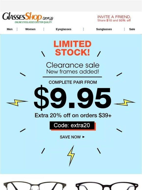 2cea0849ee9c GlassesShop.com  Limited Stock!  9.95 Frames!   NEW - Digital Screen  Protection Lenses