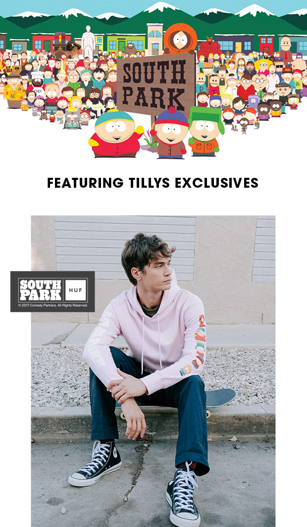 HUF X SOUTH PARK - Featuring Tillys Exclusives