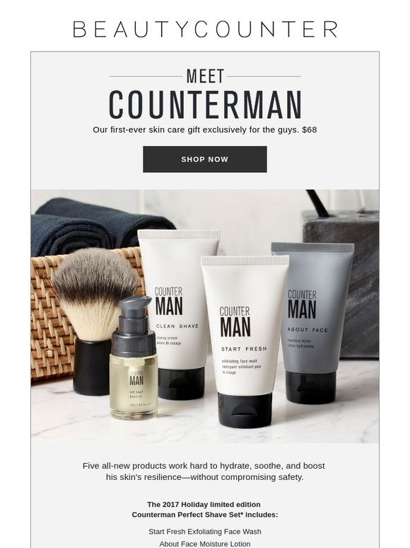 Beautycounter: New: A holiday set just for the guys | Milled