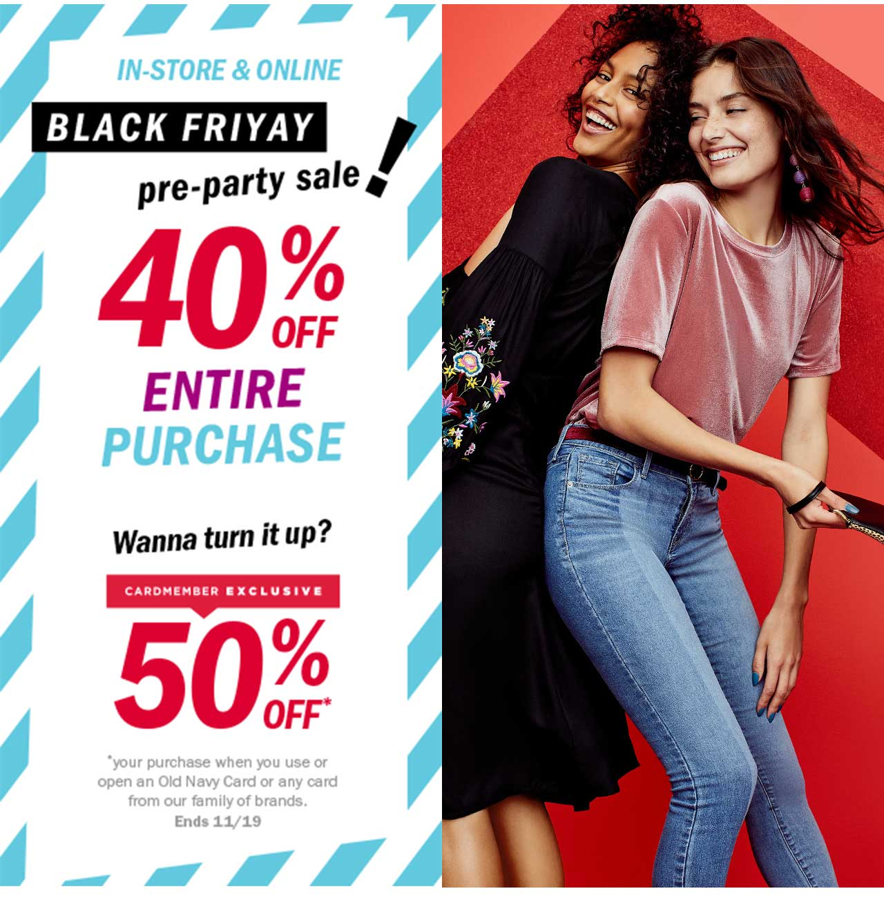 Old Navy: 🔵 You just nabbed 40% OFF your ENTIRE purchase during the ...