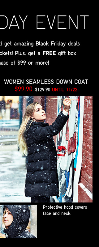 BLACK FRIDAY EVENT - Women Seamless Down Coat $99.90 - Shop Women