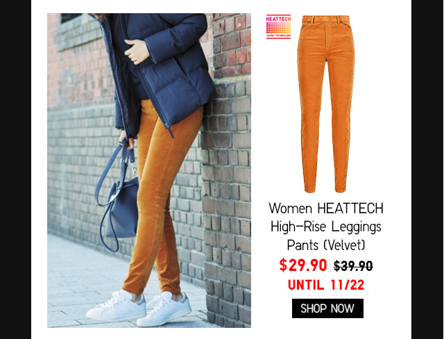 Women HEATTECH High-Rise Leggings Pants (Velvet) $29.90 - Shop Now