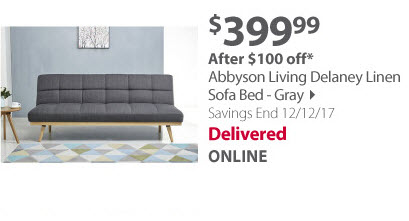 Abbyson living sofa bed