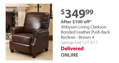 Abbyson leather recliner