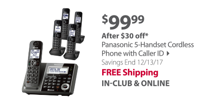 Panasonic Link2Cell DECT 6.0 5-Handset Cordless Phone with Caller ID and Answering System