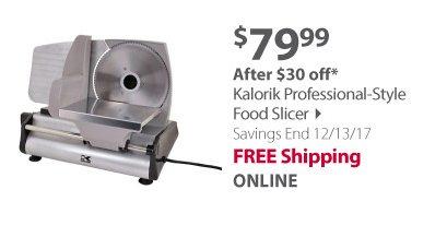 Kalorik Professional-Style Food Slicer - Silver