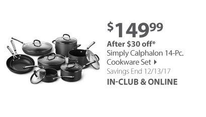 Simply Calphalon 14-Pc. Cookware Set