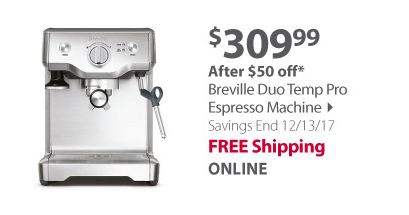 Breville Duo-Temp Pro Espresso Machine - Silver