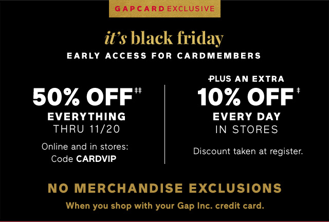it's black friday | EARLY ACCESS FOR CARDMEMBERS