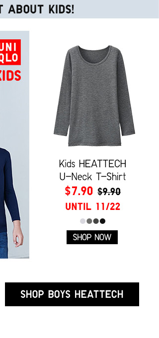 DON'T FORGET ABOUT KIDS! Kids HEATTECH Scoopneck T-Shirt $7.90 - Shop Boys HEATTECH