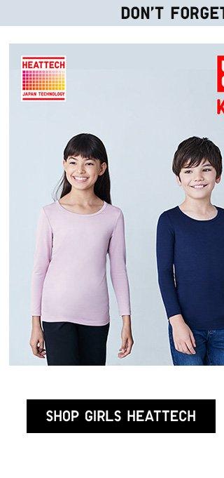DON'T FORGET ABOUT KIDS! Kids HEATTECH Scoopneck T-Shirt $7.90 - Shop Girls HEATTECH