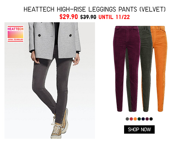 Women HEATTECH High-Rise Leggings (Velvet) $29.90 - Shop Now