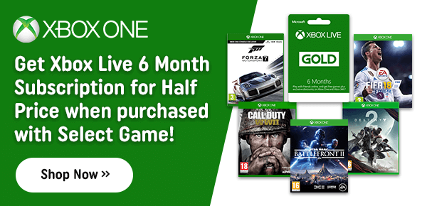 Great Savings on Xbox Live 6 Months Gold When Purchased with Select Game