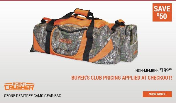 Scent Crusher Ozone Realtree Camo Gear Bag