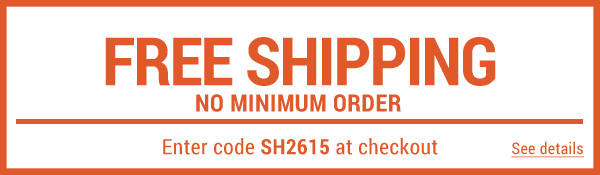 Sportsman's Guide's Free Standard Shipping – No Minimum! Enter coupon code SH2615 at check-out. *Exclusions apply, see details.