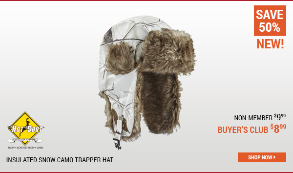 Hot Shot Insulated Snow Camo Trapper Hat