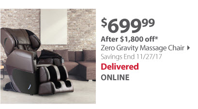 eSmart Zero Gravity Massage Chair - Brown