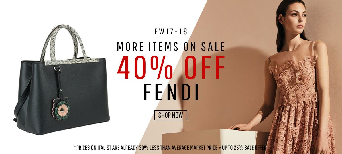 c566d3fbcf Italist  More Items On Sale  FENDI 40% OFF W18 Collection for Men ...