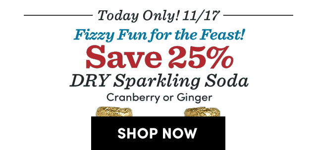 Today Only! Save 25% DRY Sparkling Soda ›