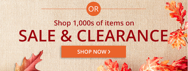 Shop 1000s of items on sale & clearance