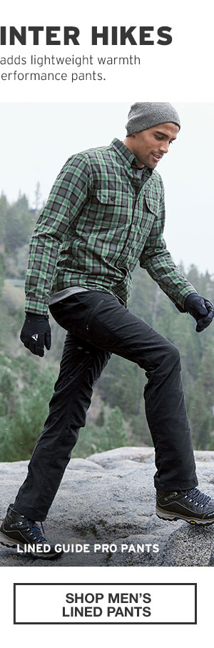 BUILT FOR WINTER HIKES | SHOP MEN'S LINED PANTS
