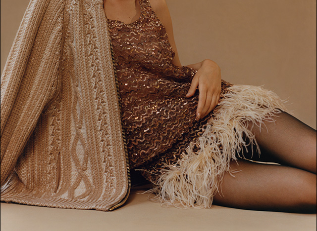 Shop showstopping dresses from Marc Jacobs, Dolce & Gabbana, Balmain and more.