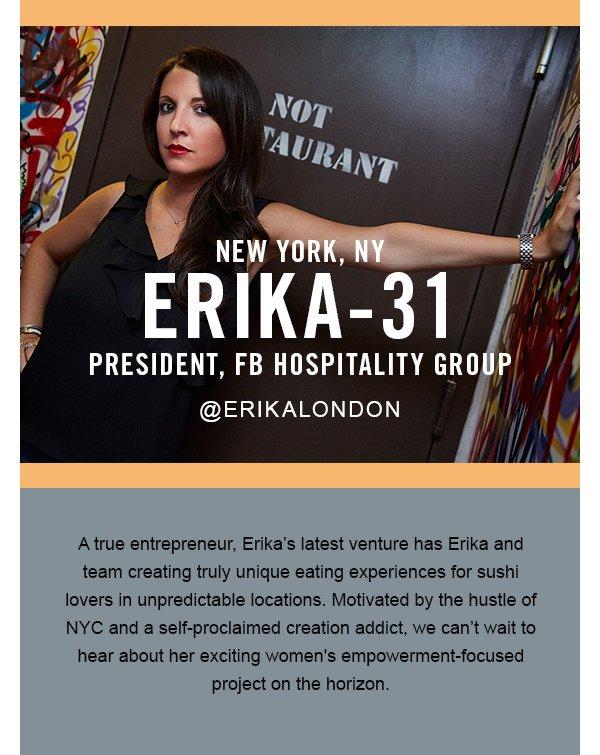 Erika, President FB Hospitality Group