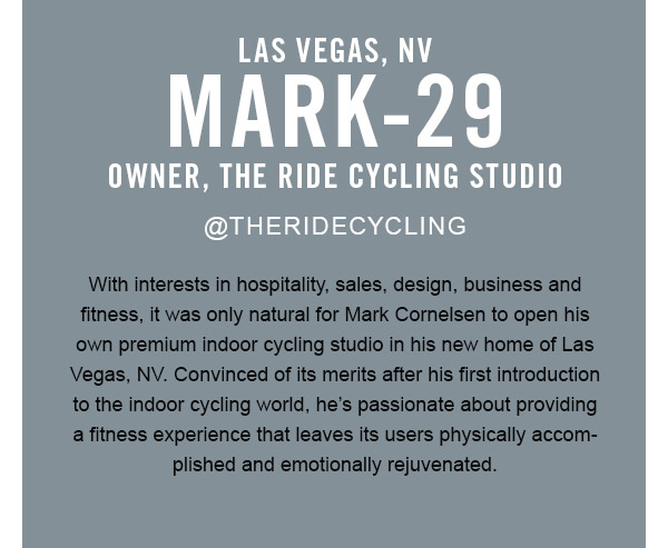 Mark: Owner, the ride cycling studio