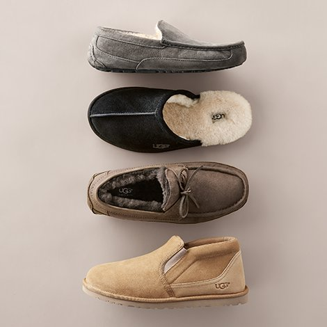Give his feet a treat with UGG shearling-lined slippers for men.