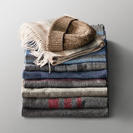 Give comfort and joy, cashmere scarves and wool hats.