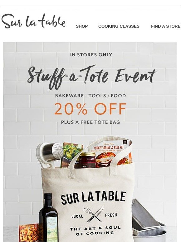 Sur La Table Stuff A Tote Full Of Thanksgiving Savings In
