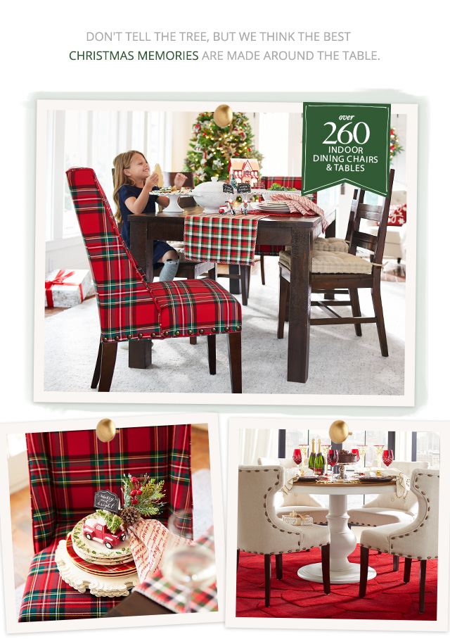 Don't tell the tree, but we think the best Christmas memories are made around the table. Shop now.