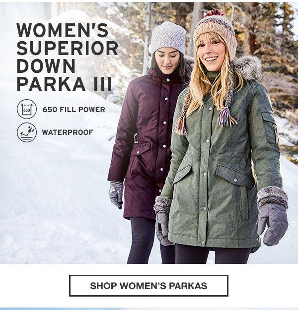 WOMEN'S SUPERIOR DOWN PARKA III | SHOP WOMEN'S PARKAS