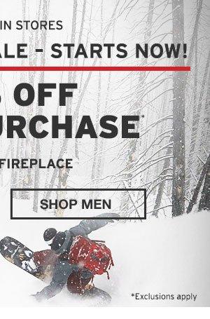 40% OFF YOUR PURCHASE | SHOP MEN